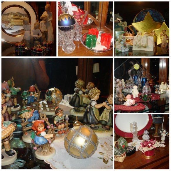 christmas balls, decorations, lights, colours, doilies