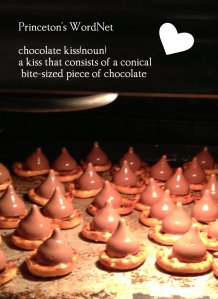 hershey chocolate kisses in oven