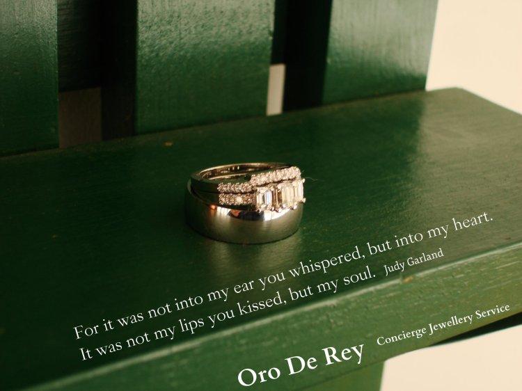 diamond engagement ring, wedding bands