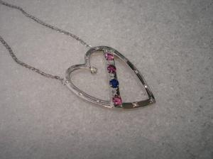 family heart pendant