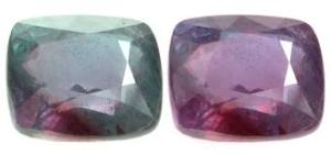 gemstones, alexandrite, changing colours