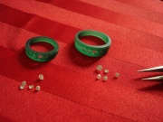 wedding bands wax mould, diamonds, oro de rey, engagement rings