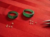 wedding bands wax mould, diamonds, oro de rey, engagement rings