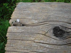 diamond engagement ring, white gold
