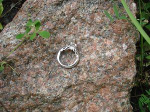 diamond engagement ring, 14 ct white gold, from Oro de Rey, Winnipeg Jeweller