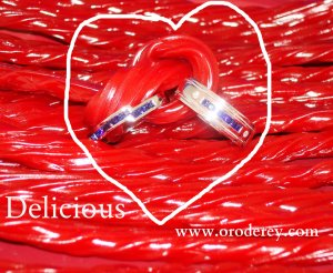 twizzlers, tying the knot, oro de rey, wedding bands, sapphires, winnipeg jeweller