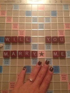 will you marry me, scrabble game, diamond ring