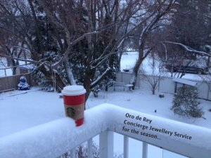 Starbucks and snow