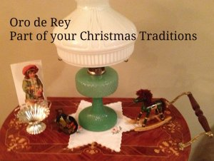 Kerosene lamp, Christmas decorations, traditions, oro de rey, gold of the king, Winnipeg jeweller, christmas gifts
