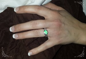 Opal Engagement ring, Oro de rey custom design jewellery