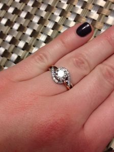 diamond engagement ring, winnipeg oro de rey, custom design engagement ring