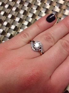 diamond engagement ring, winnipeg oro de rey, custom design engagement ring