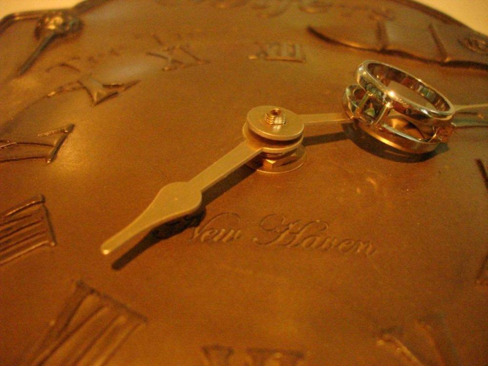 Gold wedding band, remaking custom time, hands on clock with custom design ring, alexandrite, diamond, sapphire