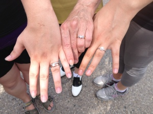 3 engagement rings in one family, two generations of engagement rings, oro de rey, gold of the king, winnipeg jeweller
