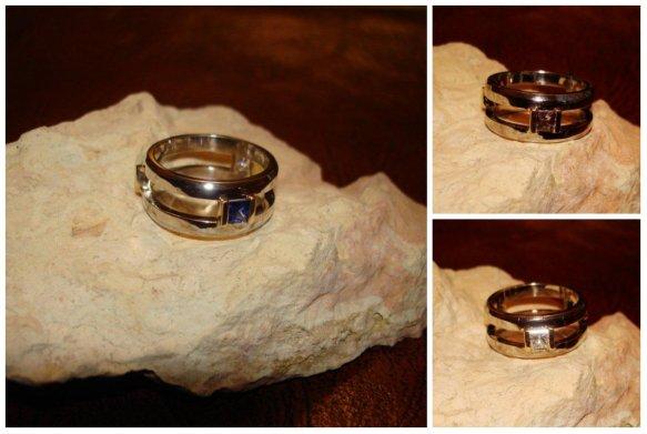 wedding ring remake collage