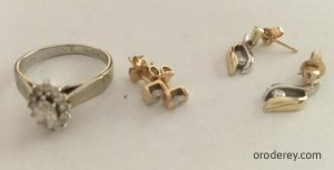 ring and earrings for new